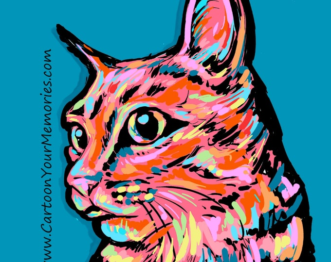 kitty cat  pop art print