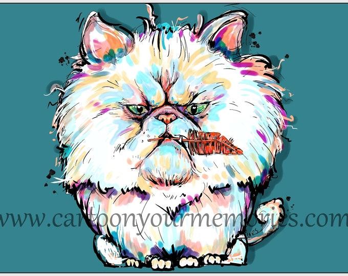 Persian Cat Art Print