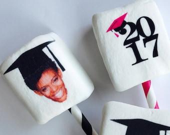 Graduation Favors. Class of 2018. Edible Take Aways. Marshmallow Pops. Unique Photo Favors. Custom Party Favors. Marshmallow. Fun Favors