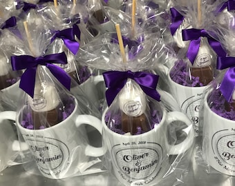 Custom Mug and Hot Chocolate Gift. Mitzvah Favors. Sweet Sixteen. Winter Party. Unique Client Gift. Mug Stuffer. Your Logo Here. Promotion