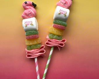 Tropical Paradise Party Favor. Pink Flamingo. Pool Party. Beach Party. Marshmallow Pops Lollipop. Pink Guest Favors. Unique Hawaiian Luau