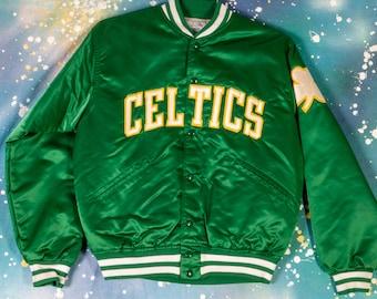 6b9bc1583 Boston CELTICS Top Of The Line STARTER Style Jacket Size M