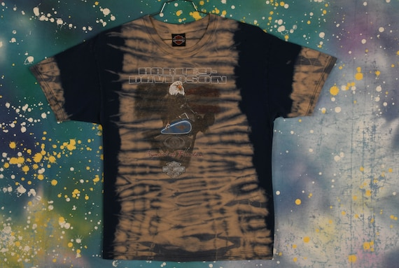 vintage HARLEY DAVIDSON Tie Dye T Shirt - image 1