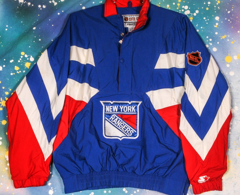 New York RANGERS Hockey Starter Jacket Size L  ad53a13160