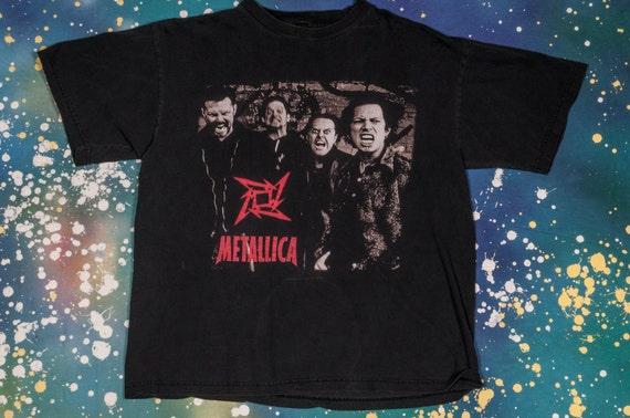 1990s METALLICA Vintage Concert T-Shirt Size L 199