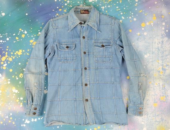 70's Hi Gear Hippie Denim Patch Jacket Size- Medi… - image 1