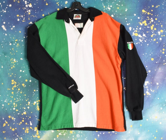 90s vintage IRELAND RUGBY flag Polo Shirt