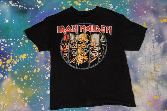 IRON MAIDEN Metal Rock T-Shirt Size L