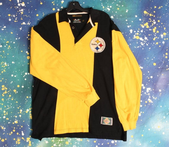 90s PITTSBURGH STEELERS Rugby Shirt