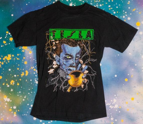 TESLA Glam Metal Rock T-Shirt Size M