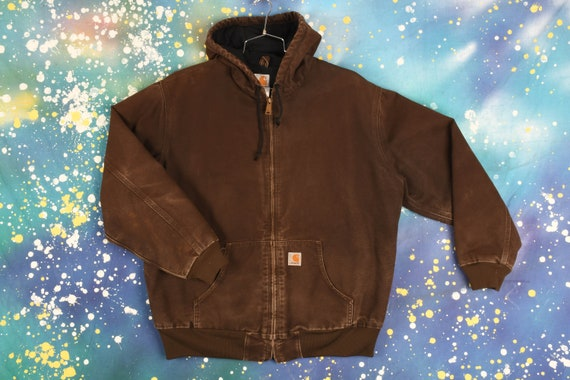 Vintage Carhartt Hooded Jacket - Medium