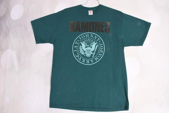 vintage 1990s teal RAMONES T Shirt