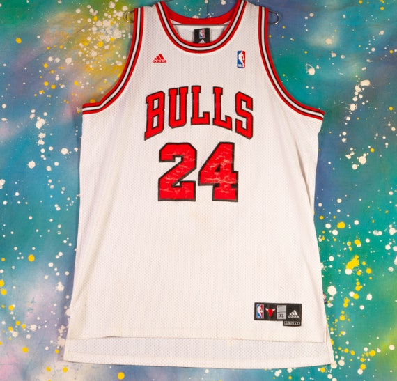 Chicago BULLS #24 Thomas Basketball Jersey Size XL
