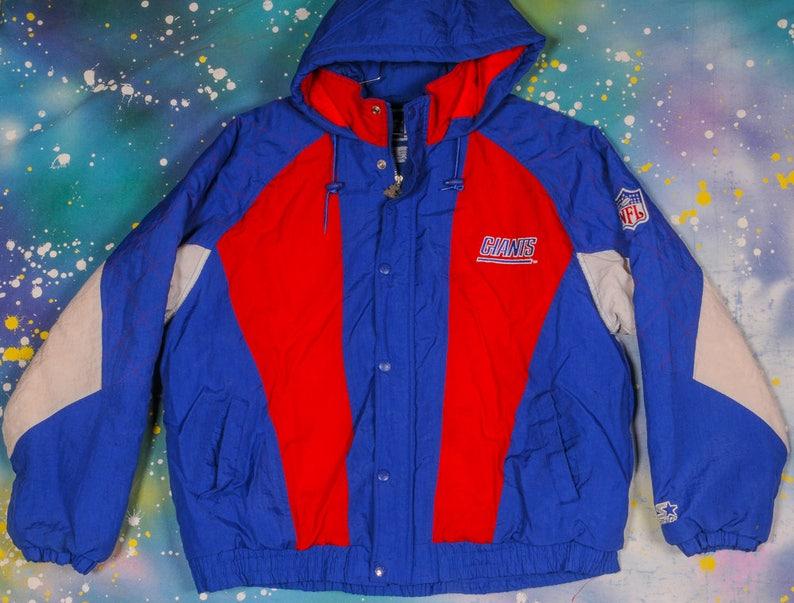 low priced 36747 0c3f5 New York GIANTS Starter Sports Jacket Size XL