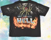 vintage 90s SPIDER FROM HELL Anvil T Shirt