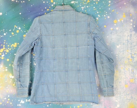 70's Hi Gear Hippie Denim Patch Jacket Size- Medi… - image 6