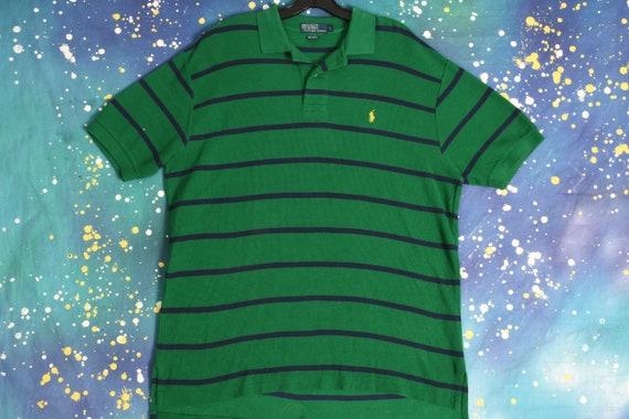 vintage POLO Ralph Lauren green striped Polo Shirt