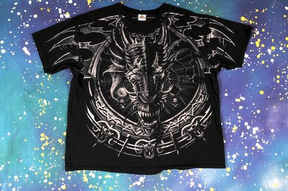 DRAGON Liquid Blue T-Shirt Size 2XL