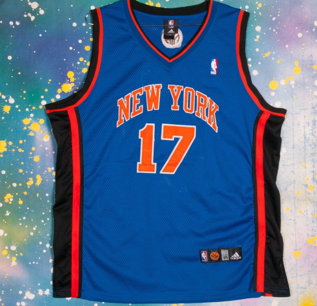 New York NETS #17 Basketball Jersey Size 54