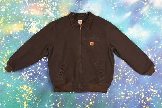 Vintage Carhartt Hooded Jacket (Lined)- XL