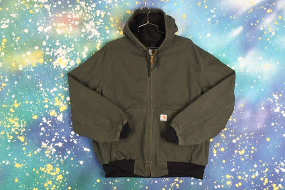 Vintage Carhartt Hooded Jacket - XL