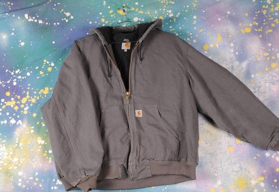 vintage grey Hooded CARHARTT Jacket