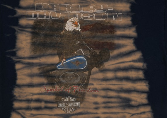 vintage HARLEY DAVIDSON Tie Dye T Shirt - image 2