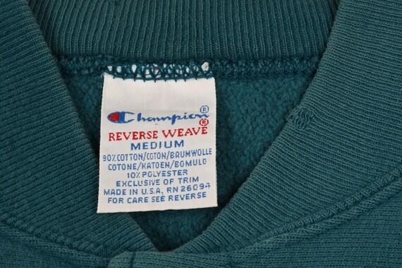Vintage Champion Teal Sweatshirt - Medium - image 6