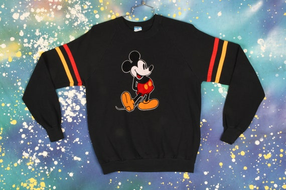 Vintage Mickey Mouse Sweatshirt - XL