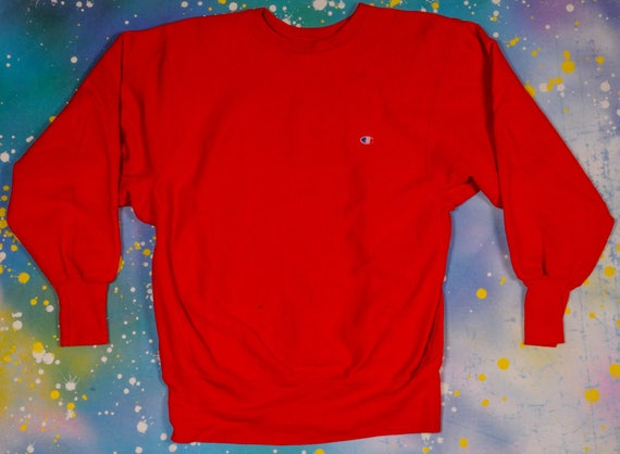 Red  CHAMPION Reverse Weave SWEATSHIRT Size L - image 1
