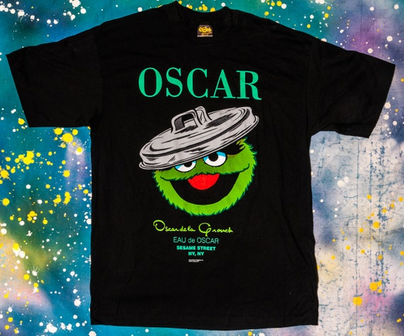 SESAME STREET T-SHIRT TRANSFER IRON ON TRANSFER OR STICKER OSCAR THE GROUCH