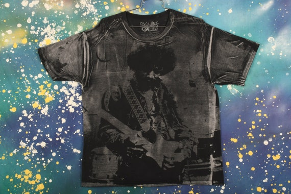 Jimi Hendrix All over print T-Shirt Size XL