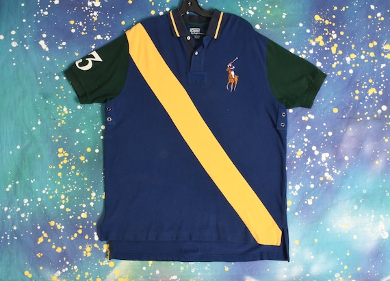vintage POLO Ralph Lauren Rugby striped Polo Shirt