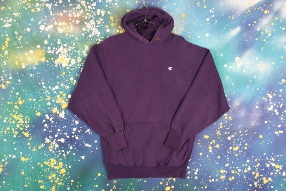 Vintage Purple Champion hooded Sweatshirt