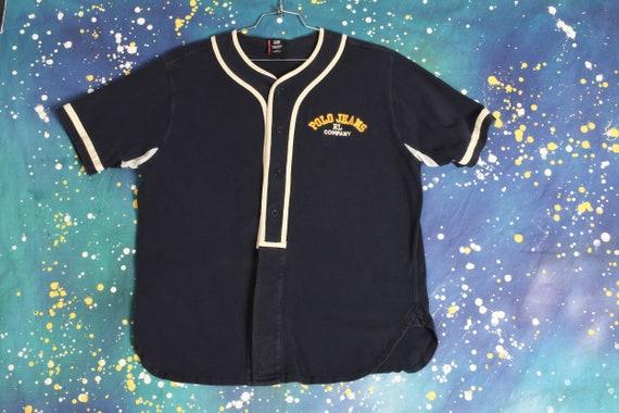 vintage POLO JEANS Ralph Lauren Baseball Jersey