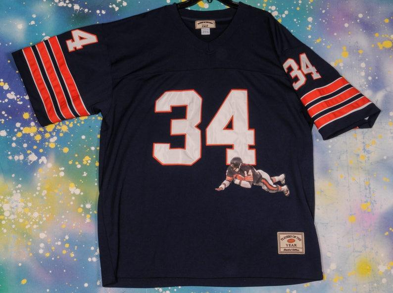 san francisco 8f684 5e621 Walter Payton CHICAGO BEARS Football Jersey Size 58