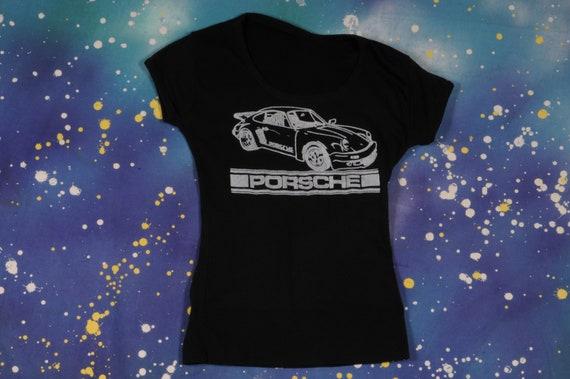 PORSCHE 1980s T-Shirt Size XS