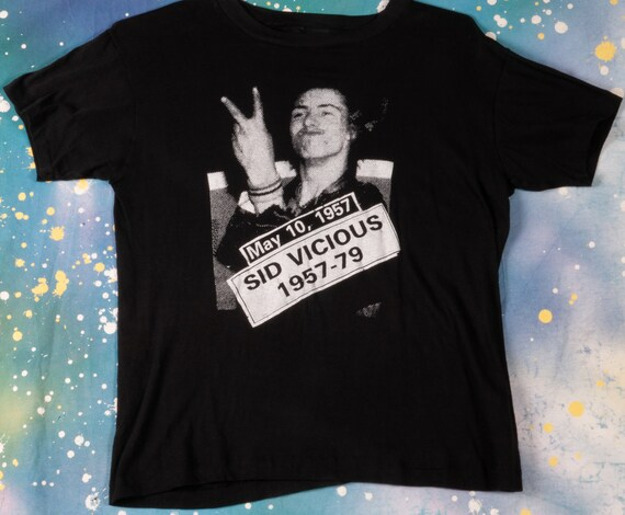 SID VICIOUS 1957-1979 Sex Pistols Punk Rock T-Shir