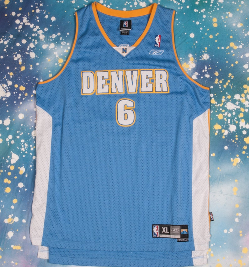 new style 9f782 a75b1 Denver NUGGETS #6 Martin Basketball Jersey Size XL