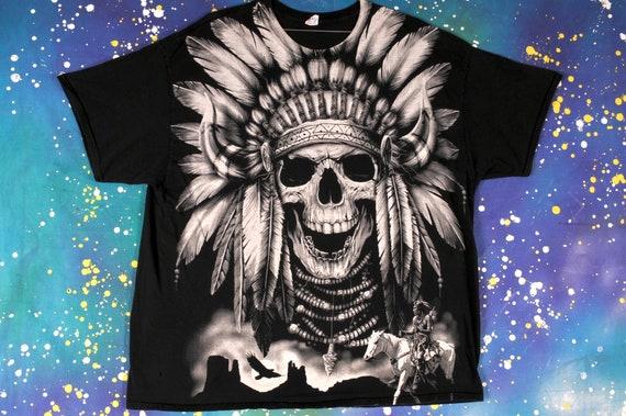Indian SKULL T-Shirt Size XXL