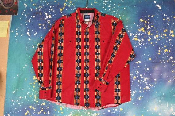 90s vintage WRANGLER COWBOY Shirt