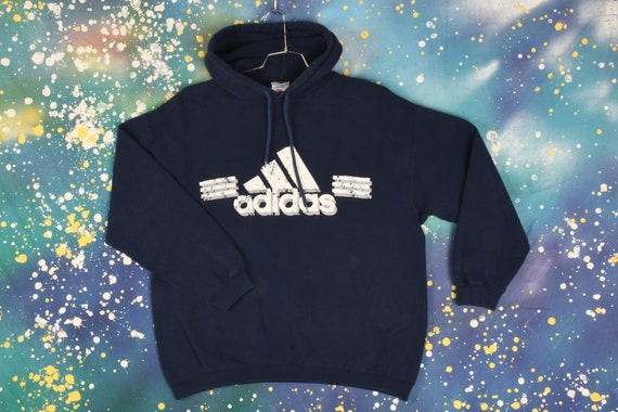 Vintage Adidas Hooded Sweatshirt - XL