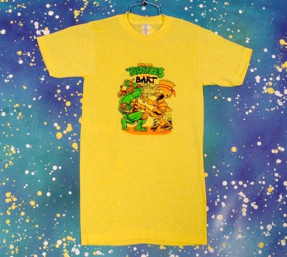 1990's Bootleg Bart Ninja Turtle T-Shirt