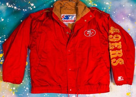 finest selection 260ed e5559 San Francisco 49ERS Starter Jacket Size L