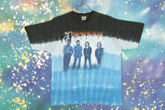 vintage THE DOORS Liquid Blue Tie Dye T Shirt