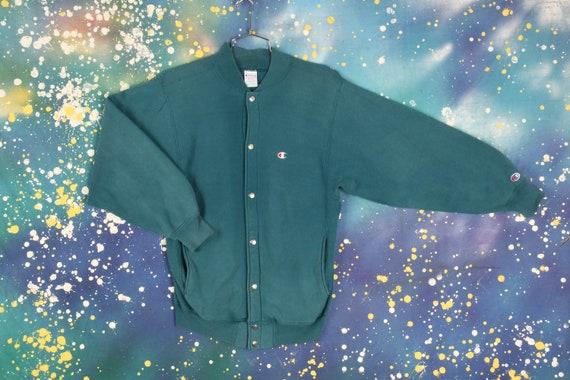 Vintage Champion Teal Sweatshirt - Medium - image 1