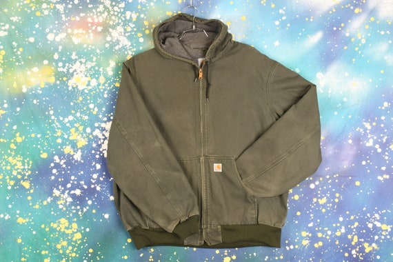 Vintage Carhartt Hooded Jacket (Lined)- 2XL
