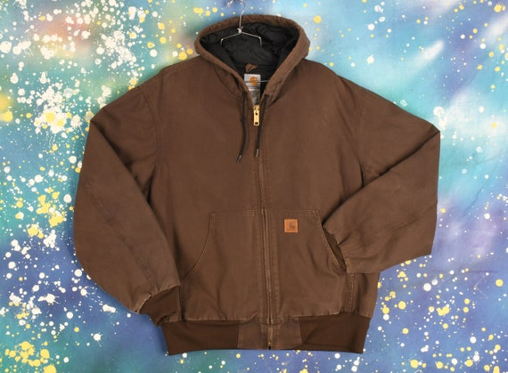 Vintage Carhartt Hooded Jacket - Large