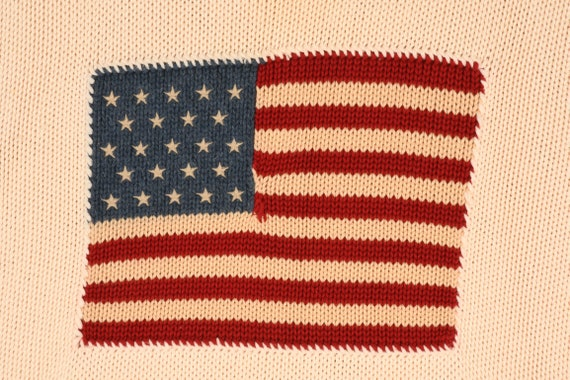 vintage POLO Ralph Lauren Knit FLAG Sweater - image 2