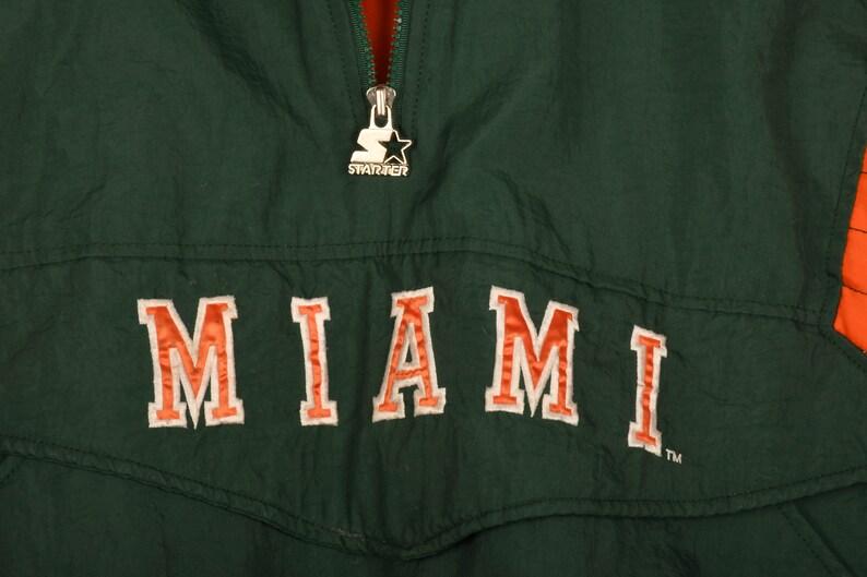 Miami Hurricanes Starter Jacket Size L